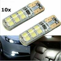 10X T10 CAR BULBS LED ERROR FREE CANBUS SMD XENON WHITE W5W SIDE LIGHT BULB 12V