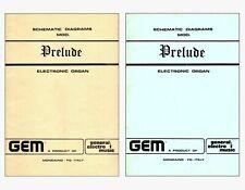 GEM PRELUDE Service Manual repair Schematic diagram Schaltplan Schéma électrique