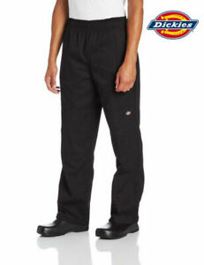 NWT DICKIES UNISEX CARGO STYLE CHEF PANTS IN BLACK DC12