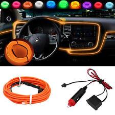 Car light Strip EL-Wire Auto Interior Fluorescent Neon Cold Tape Lamp Orange