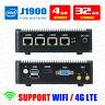 Fanless Mini PC Intel J1900 4 LAN Port 4G RAM/32G SSD Fanless pfSense Firewall