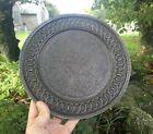 Kashmiri round copper salver or platter  exceptionally fine foliate detail