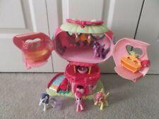 My Little Pony ponyville Pinkie Pie Balloon House + 4 Ponies  2006 Hasbro WORKS