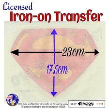 Lic. Superman™ S Symbol Logo - Iron-on Transfer - 23cm x 17.5cm Superior Quality