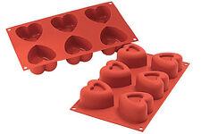Stampo 6 passion cuore silicone Silikomart SR 124 stampi multiporzioni - Rotex