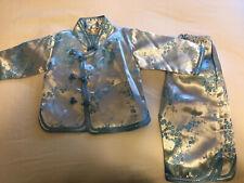 Satin Blue Baby Chinese Pajamas