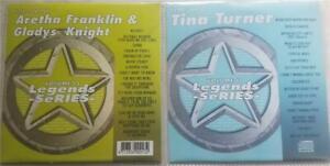 2 CDG LEGENDS KARAOKE DISCS 1980'S ARETHA FRANKLIN,GLADYS KNIGHT,TINA TURNER R&B