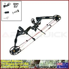 New 30-60Lbs Compound Bow Archery Hunting Kit Right Hand Target Black