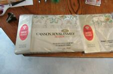 Cannon Full flat Sheet+ 4 pillowcases 1970's vintage New in package Fancy Lace
