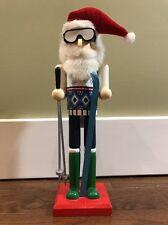 2014 Threshold Brand Nutcracker Figurine Skier Christmas Holiday