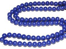 "8MM Blue Egyptian Lazuli Lapis Gemstone Round Loose Beads 15"" Strand"