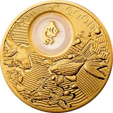Niue 2014 2$ Goldfish Lucky Coins III Proof Silver Coin