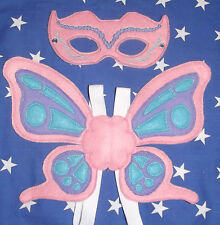 Handmade Kids Butterfly Mask & Wings - Costume, Dress up