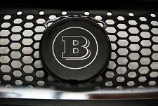 Logo Brabus Smart ForTwo ForFour W453 Logo noir et chrome calandre emblème