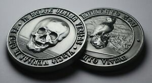 MEMENTO MORI / VIVERE Reminder Coin. Antique Nickel. Owl/Death/Wisdom/Stoic