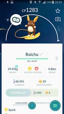 Pokemon Go Account with Shiny Alola Raichu