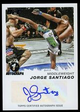 JORGE SANTIAGO 2011 Topps UFC Moment of Truth Strikeforce 1st AUTO