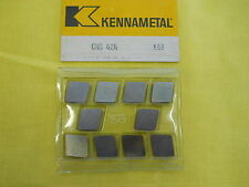 10 INDEXABLE CARBIDE CUTTING TOOL INSERTS lathe mill milling KENNAMETAL CNG 424