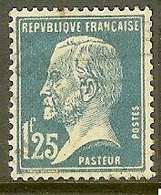 "FRANCE TIMBRE STAMP N°180 ""TYPE PASTEUR, 1 F 25 BLEU"" OBLITERE TB"