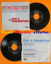 LP 45 7'' DOC & PROHIBITION Generation Gimme more italy SAINT MARTIN cd mc dvd