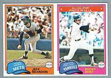 1981 OPC Mets' Jeff Reardon, Yankees' Bucky Dent Proof Uncut Pair