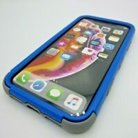for Apple iPhone XR Tuff Hybrid Shockproof Armor Rugged Impact Case Blue+Gray