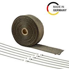 15m Hitzeschutz Band - 50mm Basalt 1400°C Auspuff Krümmer Titan Turbo Heat Wrap
