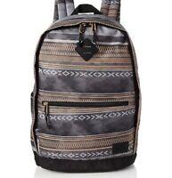Animal Frontside Backpack Grey Asphalt Grey Aztec Print School College Bag 13ltr