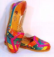 Sandal huarache leather women Mexico casual Flat shoes Close Toe Slip on Multico