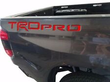 RED 14 15 16 Toyota Tundra TRD PRO Tailgate Insert Letters Decal Stickers Decals