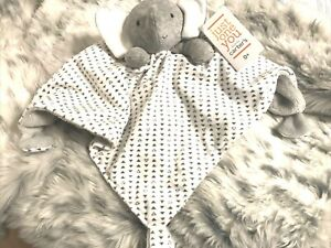 NWT Carters Just One You Grey Triangles Elephant Baby Security Blanket Lovey Toy