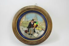 """Royal Doulton Plate 1980 """"The Balloon Man"""" Mounted & Framed"""