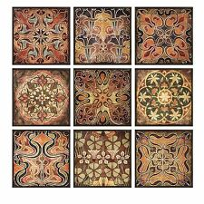 Decorative Rustic Tuscan Style Wall Panels Earth Tones Wall Sculpture Plaque Art