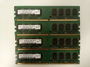 Lot 8Go de RAM - 4 x 2Go PC2-6400U DDR2