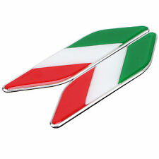 2X Car Italy Flag Italian Emblem Stickers Fender Decal For Fiat Mini Peugeot Pop