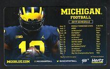 Michigan Wolverines--2019 Football Magnet Schedule--Hertz--AAA