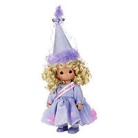 "Precious Moments 12"" Happy Birthday Princess Doll Blonde Purple NEW"
