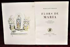FLORS DE MARIA DE MOSSEN JACINT VERDAGUER. MONTANER Y SIMON 1947. LITOGRAFÍAS