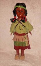 Vintage CARLSON Native American Indian Doll with papoose Baby