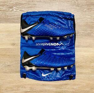 Nike Hypervenom 3 Elite FG Racer Blue Silver Soccer Cleats AJ3805-400 Men's 11
