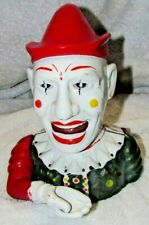 ANTIQUE 1893 HUMPTY DUMPTY CIRCUS CLOWN JESTER CAST IRON WORKING MECHANICAL BANK