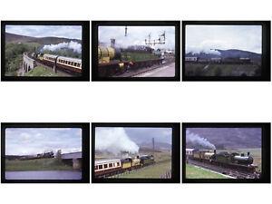 12 Original steam railway colour slides -  GNSR49 & HR103 - Scotland specials