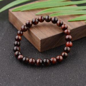 6~10mm Tiger Eye Bracelets Men Natural Stone Beads Charm Bracelet Jewelry Gift