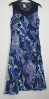 Marks & Spencer Per Una Floral Print Crinkle Midi Dress - UK Size 10 - 14