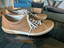 Ecco Tan Brown Leather  Men's  Sz 8   42  Vegetable Tanned Insole Comfort shoes
