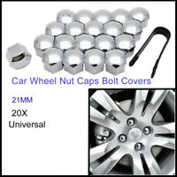 21MM CHROME CAR WHEEL NUT BOLT COVERS CAPS UNIVERSAL FOR ANY CAR NEW