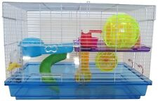 YML H1812 Clear Plastic Dwarf Hamster, Mice Cage w/Color Accessories, Blue NEW