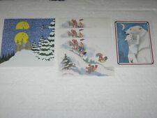 Lot Of 6 Vintage Unused Earthnotes Christmas Cards Coyotes Bunnies Polar Bear