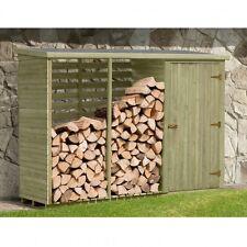 Kaminholzregal mit Rückwand und Gartenschrank 280x100x200 cm Kaminholzunterstand