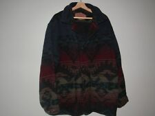 Vintage Woolrich Navajo Aztec Native Indian Made In USA Men Size Large Wool Coat